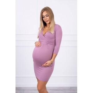 Suknelė nėštukėms - tamsiai rožinės spalvos S-XXXXL