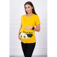 Palaidinė nėščiosioms Guck - geltonos spalvos