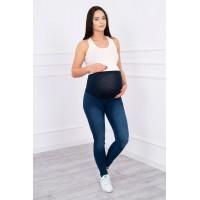Džinsai nėščiosioms (S-XXXL) tamsiai mėlynos spalvos