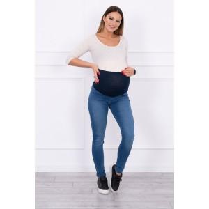 Didelių dydžių džinsai nėščiosioms - mėlynos spalvos