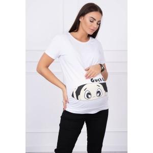 Palaidinė nėščiosioms Guck - baltos spalvos