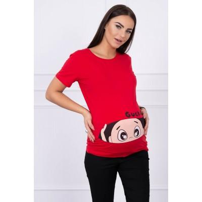 Palaidinė nėščiosioms Guck - raudonos spalvos Palaidinės