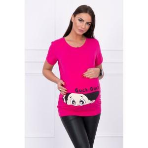 Palaidinė nėščiosioms Guck - ryškios rožinės spalvos