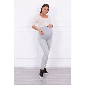 Džinsinės kelnės nėščiosioms - pilkos spalvos