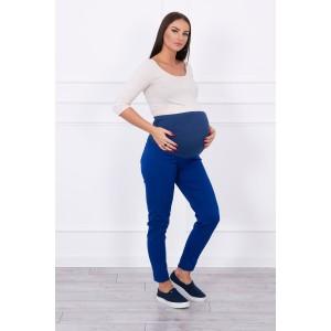 Džinsinės kelnės nėščiosioms - mėlynos spalvos