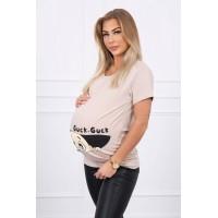 Palaidinė nėščiosioms Guck - kreminės/rusvos spalvos