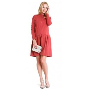 Suknelė ZOYA nėščiosioms - maitinančioms (tamsiai koralinė spalvos)