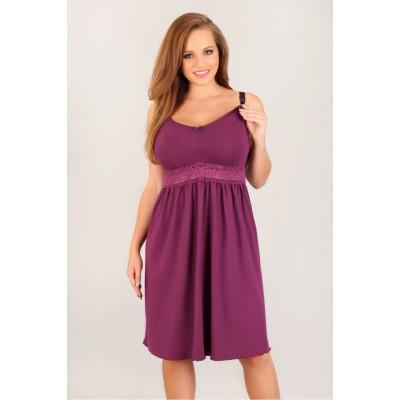 Naktiniai didelių dydžių - maitinančiai mamai (violetinės spalvos) Naktiniai ir pižamos