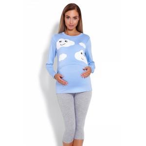 Pižama nėščioms bei maitinančioms (mėlynos spalvos)