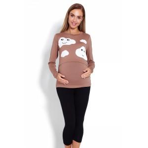 Pižama nėščioms bei maitinančioms (smėlinės spalvos)