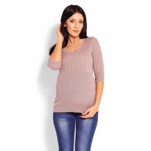 Megztinis nėščiosioms (smėlinės spalvos)