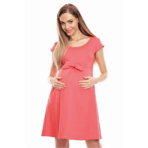 Suknelė nėščiosioms - (koralinės spalvos)