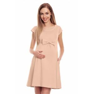 Suknelė nėščiosioms - (smėlinės spalvos)
