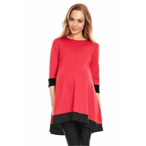 Suknelė - tunika nėščiosioms (raudonos spalvos)