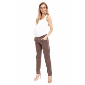Klasikinės kelnės nėščiosioms (rudos spalvos)
