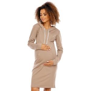 Suknelė nėščiosioms - maitinančioms (kapučino spalvos)