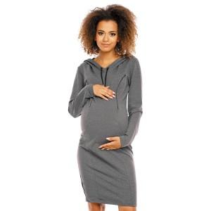 Suknelė nėščiosioms - maitinančioms (grafito spalvos)