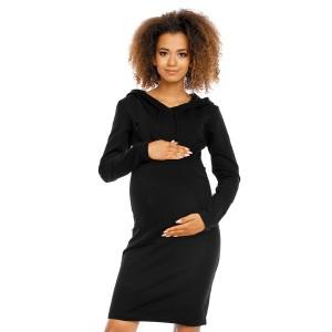 Suknelė nėščiosioms - maitinančioms (juodos spalvos)