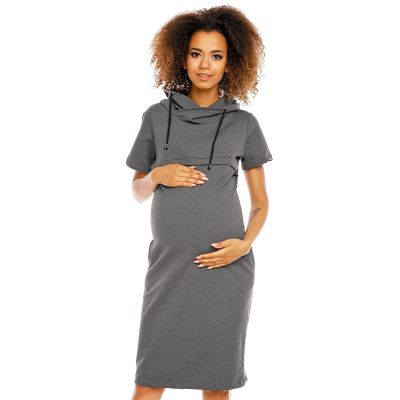 Suknelė nėščiosioms - maitinančioms (grafito spalvos) Suknelės