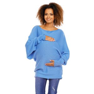 Megztinis nėščiosioms (mėlynos spalvos)