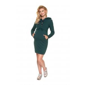Suknelė KANGAROO nėščiosioms - maitinančioms (žalios spalvos)