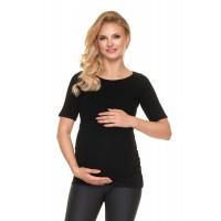 Medvilninė palaidinė maitinančioms / nėščioms (juodos spalvos)