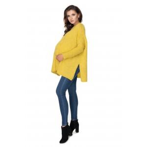 Megztinis nėščiosioms (geltonos spalvos)