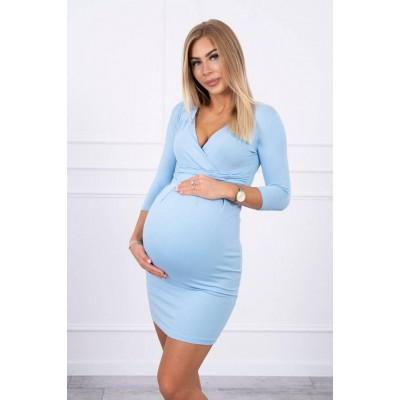 Suknelė nėštukėms - melsvos spalvos S-XXXXL Suknelės, sijonai