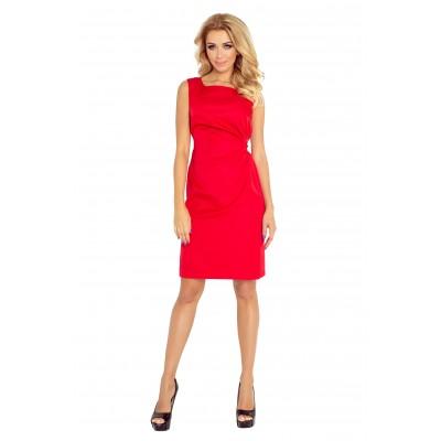 MEMORY - suknelė su surišimu - raudonos spalvos 126-5 Suknelės